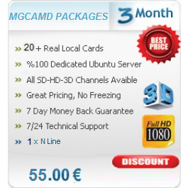 3 Months Subscription Server MGCamd