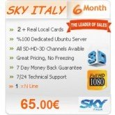 6 Months Subscription Sky Italy MGCamd