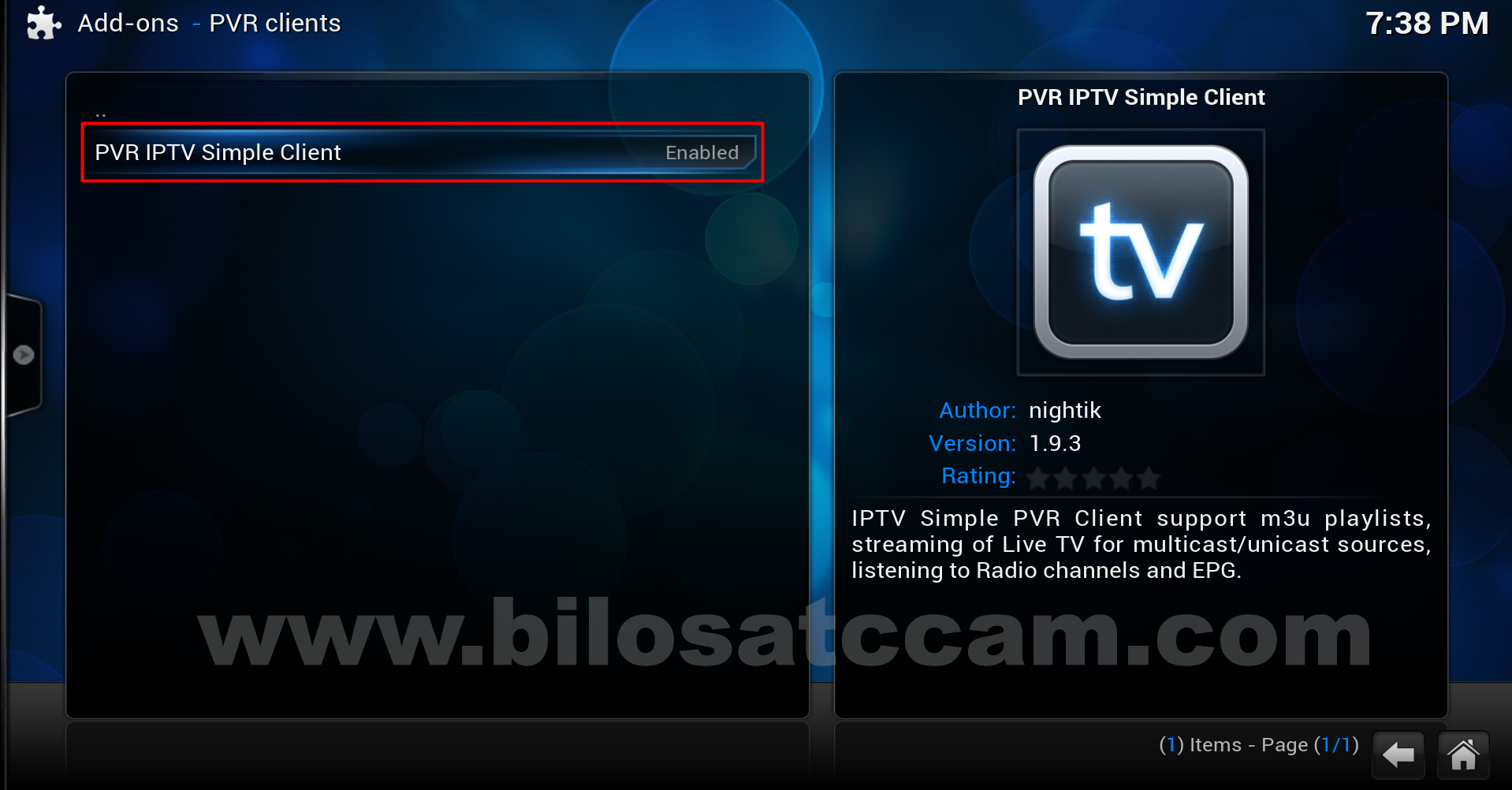 Pvr client xbmc android device